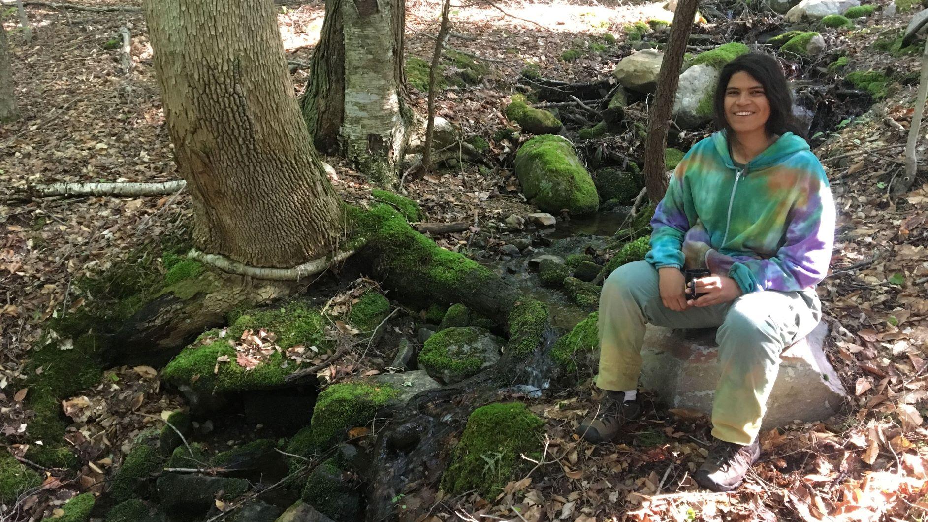 Zeke in the woods